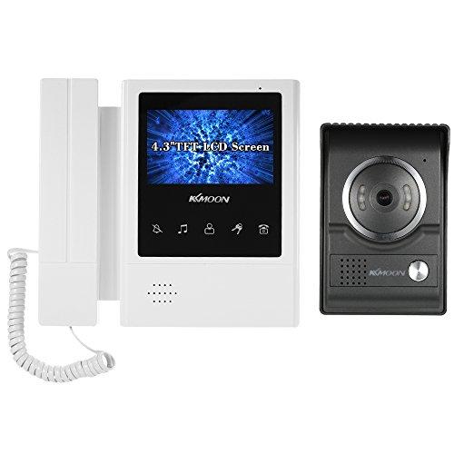 Immagine di KKmoon Videocitofono Cablata Video Citofoni 4,3 Pollici LCD Monitor Supporto Visione Notturna Audio Bidirezionale Impermeabile Video Door Phone per Sorveglianza Domestica