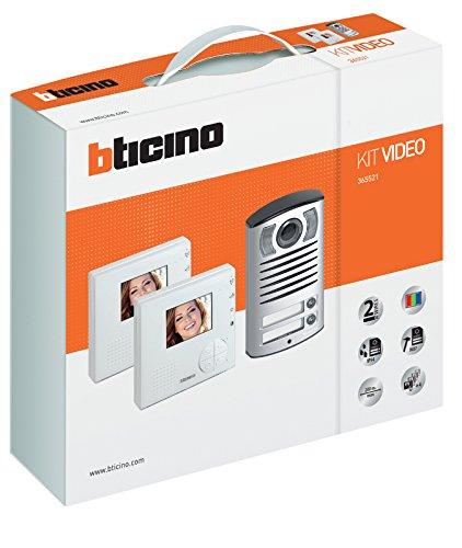 Immagine di BTicino 365521 Kit Vivavoce Monofamiliare Composto da Videocitofono Classe 100V12B e Pulsantiera Linea 2000 con Telecamera a Colori, Bianco