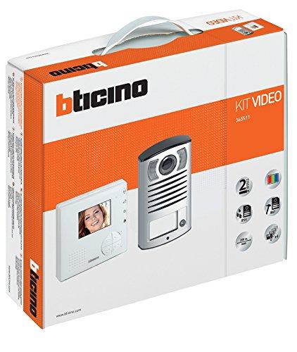Immagine di BTicino 365511 Kit Videocitofono Classe 100V12B e Pulsantiera Linea 2000 con Telecamera a Colori, Bianco
