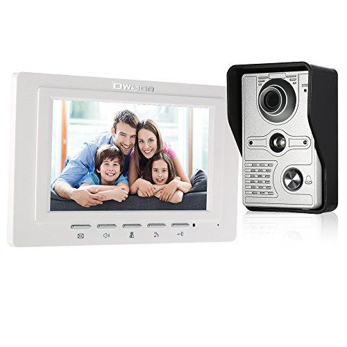Immagine di Festnight Videocitofono, Videocamera a Infrarossi a 7 Pollici Cablata Anti-intrusione con Sensore a Distanza