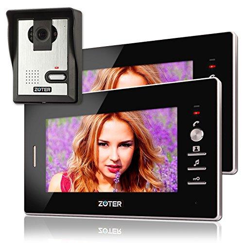 Immagine di Soter sicurezza® Cavo 17,8cm pollici LCD videocitofono citofono 600TVL W monitor con 2ingresso kit sistema