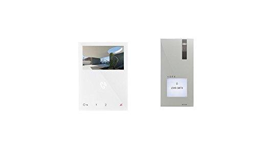 Immagine di Impianto videocitofono, kit per casa unifamiliare 8461V2con filo, con stazione per porta Quadra sopra intonaco