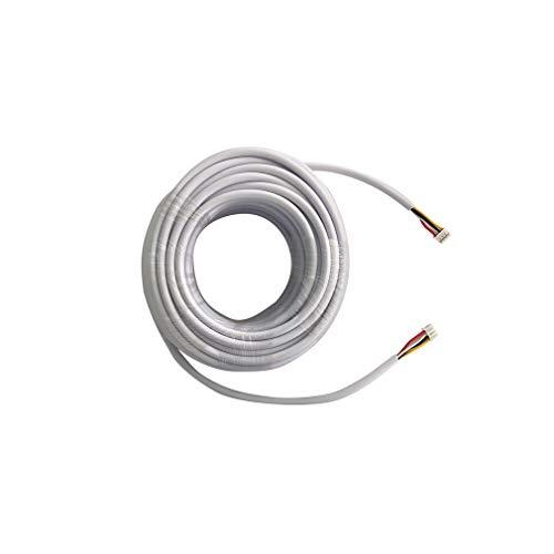 Immagine di TMEZON Cavo per videocitofono color 4-Core Wire 15M, 4miltri 15, Cavo prolunga Cavi prolunga Colore AWG24 / 0.3mm² per citofono/videocitofono Porta del sistema, Monitor e campanello, videocitofono
