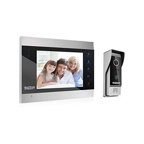 Immagine di TMEZON HD 1080P Videocitofono Visivo Door Phone,7 pollici Cablata LCD Monitor,1080p citofono Campanello Telecamera Esterna Vista Notturna,Impermeabile,Audio Bidirezionale,Registrazione/Istantanea