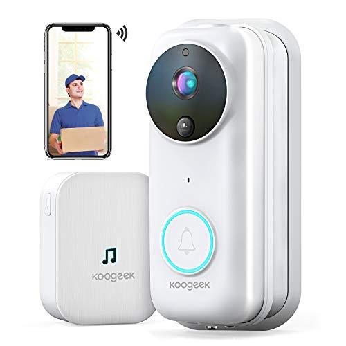 Immagine di Videocitofono Wifi,Campanello Video HD 1080P Citofono Wifi,Audio Bidirezionale,RIP Detection,Grandangolo 170 °,Visione Notturna a Infrarossi,IP53