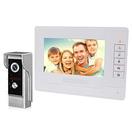 Immagine di NN99 Videocitofono campanello citofono Kit sistema 7 pollici monitor + videocamera visione notturna IR Videocitofono per casa (1 telecamera + 1 schermo)