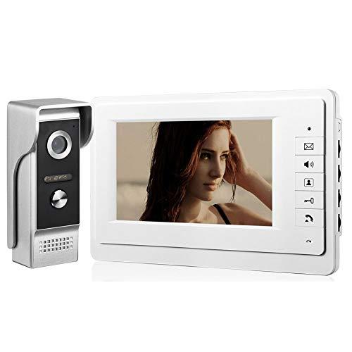 """Immagine di Comunite 7 """"sistema di videosorveglianza per walkie-talkie sistema di campanello per porta telefono a infrarossi videocitofono set di cavi vivavoce"""