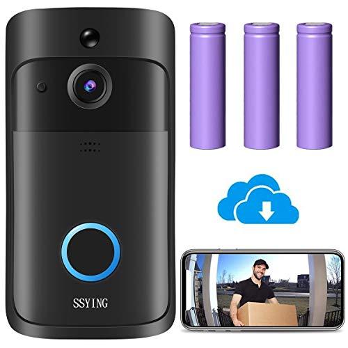 Immagine di Videocitofono WiFi, Campanello Senza Fili da Esterno Video HD IP66 Visione Notturna,Sensore di Movimento, Audio 2 vie, Visione Notturna, Archiviazione nel cloud