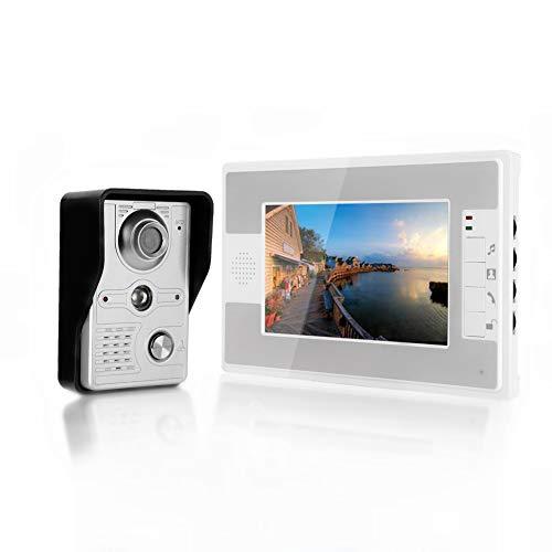 due pulsanti di chiamata per Multi Apartments//Famiglie KDL Video Intercom Citofono videocitofonico RFID 7 pollici Video citofono System 2 monitor con 1 telecamera IR Visione notturna