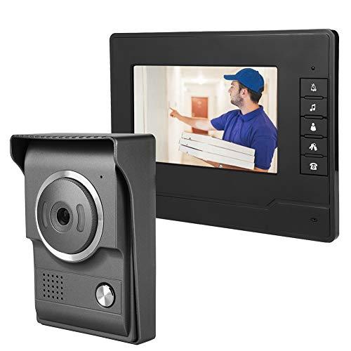 Immagine di Campanello 7Inches TFT/LCD HD Video campanello impermeabile, videocitofono cablato campanello per porte di visione notturna a infrarossi Sistema di sicurezza domestica,(EU)