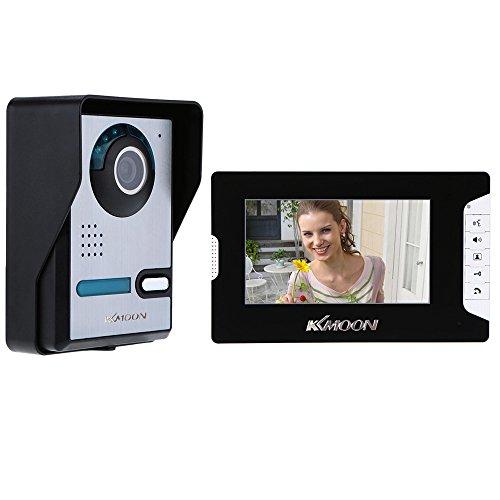 Immagine di KKmoon, Kit Videocitofono, Video Campanello, Citofono Videocitofono, 7 Pollici TFT LCD Citofono con Telecamera Visione Notturna IR Impermeabile per la Sicurezza Domestica
