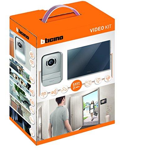 Immagine di BTicino 317013 Kit Videocitofono 2 Fili Monofamiliare, predisposto per Bifamiliare, Display 7 pollici a colori finitura a specchio, Compatibile con telecamera IP 391438